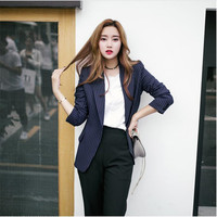 2017 אביב סתיו חדש באיכות גבוהה של מותג בלייזר רצועת עסקי אופנה קוריאנית מעיל חליפות ליזר נקבה A3013