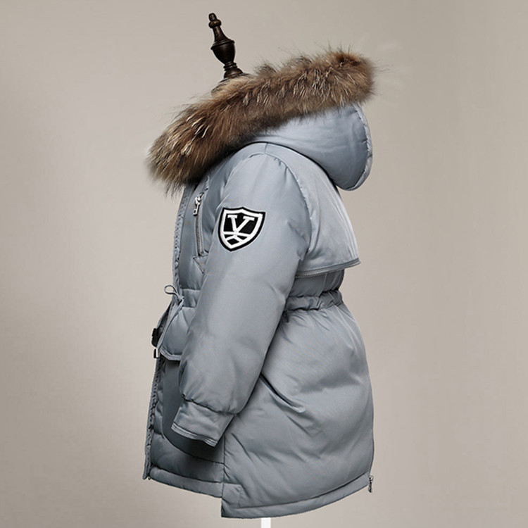 2016 High Quality Girl Real Fur Hooded Down Duck Jacket Coat Children Winter Outwear Coat Kids Winter Down Jacket for Boys 3-10Y 2016 new mori girl high quality sweep lace fur coat
