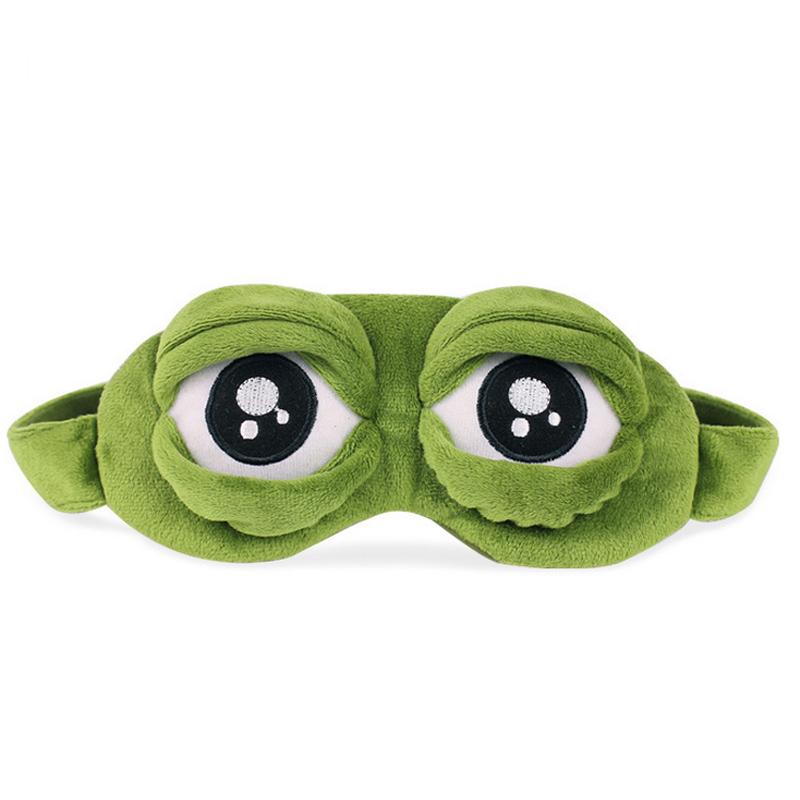 СА 3д грустная лягушка маска для путешествия сна отдых расслабиться спать помощи с завязанными глазами лед обложка глаз патч спальные маска случае аниме костюмы