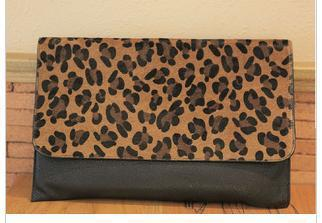 fREE SHIPPING NEW Women Girl Clutch Purse Leopard Envelope Shoulder Bag