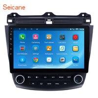 Seicane 600 1024*10,1 сенсорный экран четырехъядерный 2DIN Android 7,1/8,1 Bluetooth fm радио gps навигация для 2007 2003 Honda Accord 7