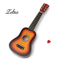Zebra 21 Inch Practice Acoustic Ukulele 6 String Mini Guitar Toys Musical Instrument For Children Guitar
