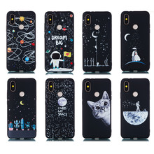 Universe Black 3D Painted Silicone Soft Case for Xiaomi mi A2 lite A1 Phone Cute Patterned
