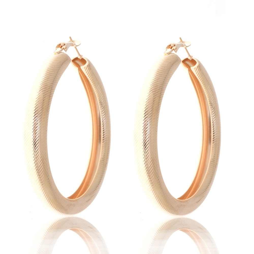 957d66b5597c3 Imixlot 60mm Round Circle Hoop Earrings Gold/Rhodium Thick Tube Earrings  For Women Hiphop Dance Fashion Jewelry