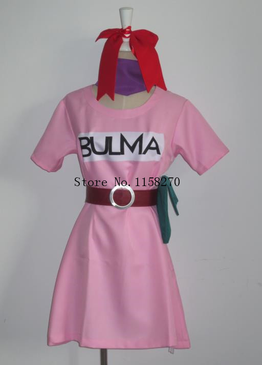 Dragonball Bulma Cosplay Costume