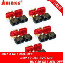 цены 5pair/lot Amass new slip sheathed T plug connector 40A high current multi-axis fixed-wing model aircraft