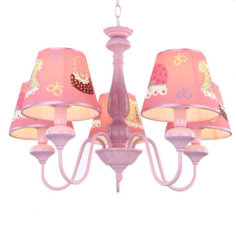 Us 149 66 Oovov Cartoon Rosa Prinzessin Zimmer Kronleuchter Mode Madchen Kinderzimmer Anhanger Lampen Kinderzimmer Hangelampe Lichter In