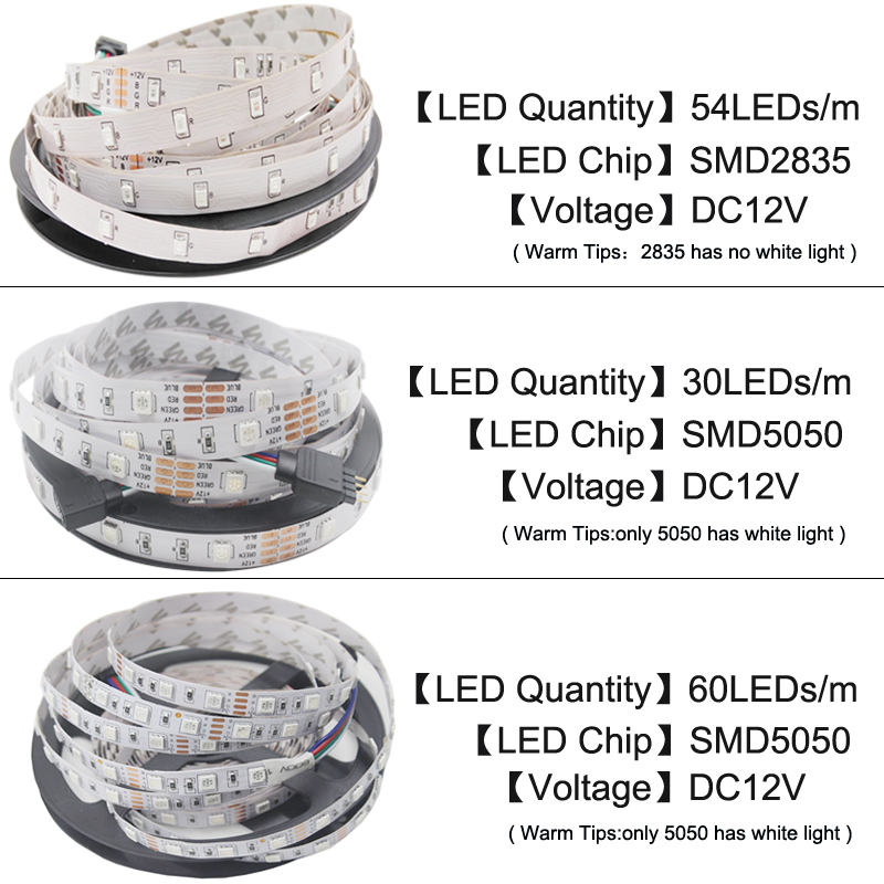 LED Strip Light SMD 5050 RGB Strip Ribbon Diode Tape RGB 5050 DC 12V 5M 10M Flexible Strip Full Set DIY Controller and Adapter