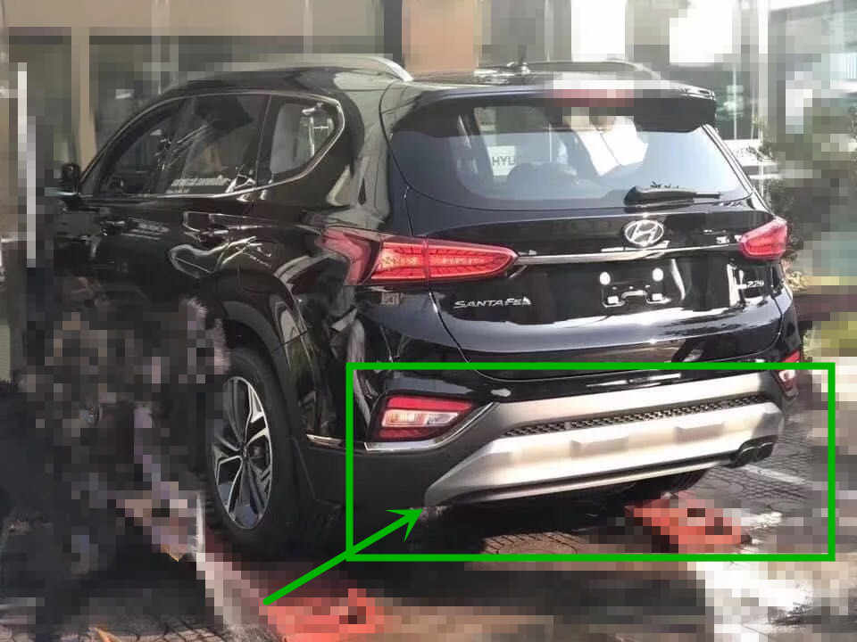Gratis verzending, voorbumper protector + achter plastic hoge kwaliteit voor Hyundai Santa Fe 2018 2019 auto stijl