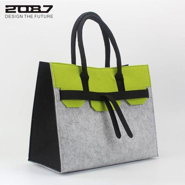 Quality Luxury New Designer Eco Friendly Felt Female Bag Tote Women HandbagFashion