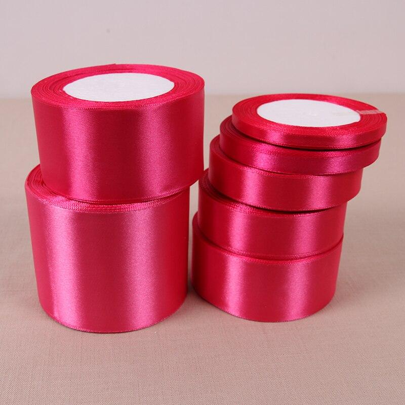 6 мм 10 мм 15 мм 20 мм 25 мм 40 мм 50 мм розы красные шелковые атласные ленты Рождество Свадебная вечеринка для упаковки подарков малиновый лентами