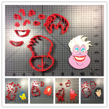 Cartoon Film Character Eric Ursula Cookie Cutter Stamp Made 3D Printed Fondant Cake Decorating Tools PLA Cupcake Many Use