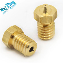 10 pcs 3D Printer Accessories Full Metal 3D M6 threaded nozzle 0.3mm/0.4mm/0.5mm/0.6/0.8/1.0 for 1.75mm filamnet for  V5 V6