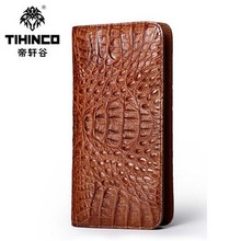 TIHINCO 2017 hot new free shipping Crocodile bag men more screens long zipper men wallet clutches business casual male bag purse