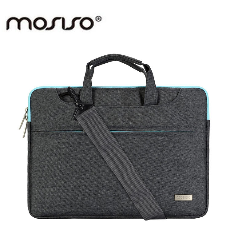 MOSISO Polyester Women/Men Laptop Shoulder Bags Briefcase With Belt Trolly 11 13.3 15.6inch Notebook Hand Bag for Mabook/Asus/HP