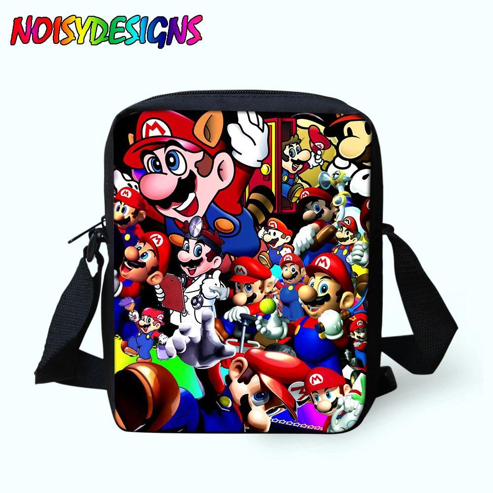 Cute Super Mario School bag Mini Children Messenger Bag 3D Printing Cross  Body Mochila Kids Schoolbag for Boys Girls Student One cd49d1ce01ea3