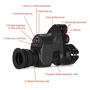 Image 5 - Free Shipping NV007 200m Infrared Night Vision Telescope Hunting Night Vision Set Sight Digital IR Monocular Rifle scope