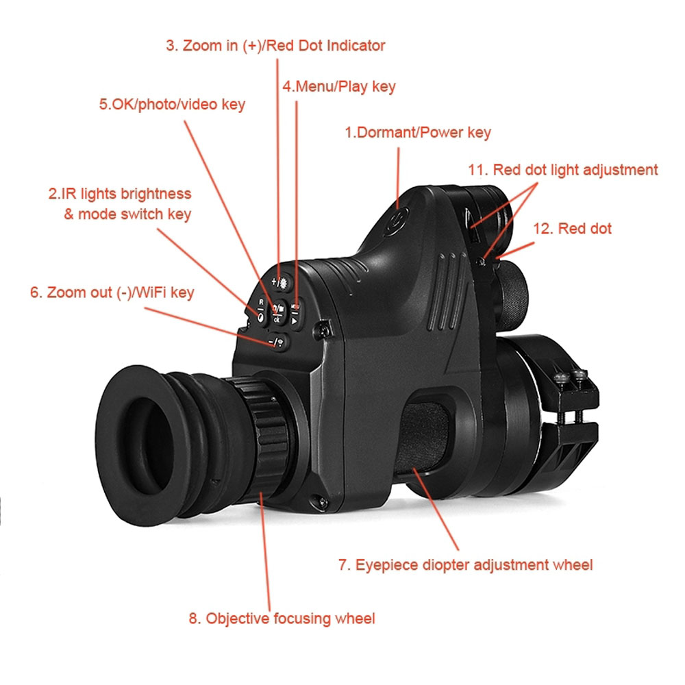 Image 5 - Free Shipping PARD NV007 200m Infrared Night Vision Telescope Hunting Night Vision Set Sight Digital IR Monocular Rifle scope-in Hunting Cameras from Sports & Entertainment