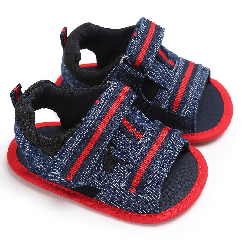 New Arrival Casual Stitching Boys cloth Sandals High Quality Outdoor fabric shoes Baby Shoes Anti-slip hook and loop Sandals