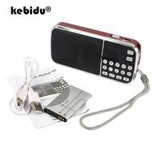 Kebidu 2019 נייד L 088 מיקרו SD TF כרטיס FM רדיו HIFI נטענת מוסיקה נגן כפול רמקול מיני רמקול MP3