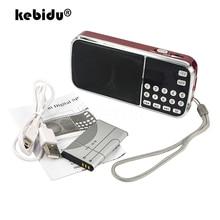 Kebidu 2019 portátil L 088 micro sd tf cartão fm rádio recarregável de alta fidelidade leitor música alto falante duplo mini mp3