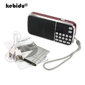 Image 1 - Kebidu 2019 taşınabilir L 088 mikro SD TF kart FM radyo HIFI şarj edilebilir müzik çalar çift hoparlör Mini hoparlör MP3