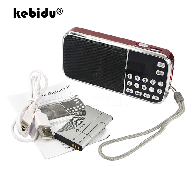Kebidu 2019 taşınabilir L 088 mikro SD TF kart FM radyo HIFI şarj edilebilir müzik çalar çift hoparlör Mini hoparlör MP3