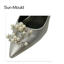 1 пара Высококачественная Сияющая Жемчужина Бриллиантовая обувь Пряжка для обуви аксессуары заколки украшения