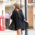 2016 de noite de verão meninas Frock projeto vestidos preto partido Chiffon vestido plissado tudo para as crianças roupas e acessórios