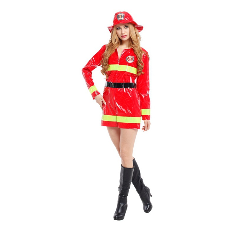 shanghai story 2017 new high quality adult firemen cosplay costume for women halloween costume cosplay uniform - High Quality Womens Halloween Costumes