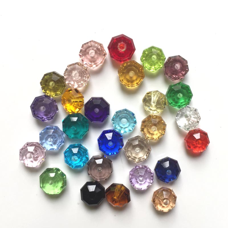 100Pcs/Bag Crystal Round Bead Glass Beads 4x6mm Crystal Rondelles ...