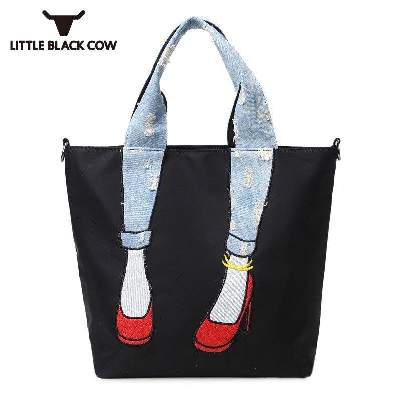 Nouveau coréen personnalité toile sac femme Zip décontracté étanche bandoulière sac à bandoulière noir haute capacité fourre-tout sacs femmes grand