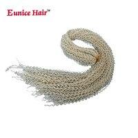 28 Inch Eunice Synthetic Box Braids Hair thin twist Zizi Braid Hair Bohemian Style 613/#99j/blonde Crochet Braids Hair Extension