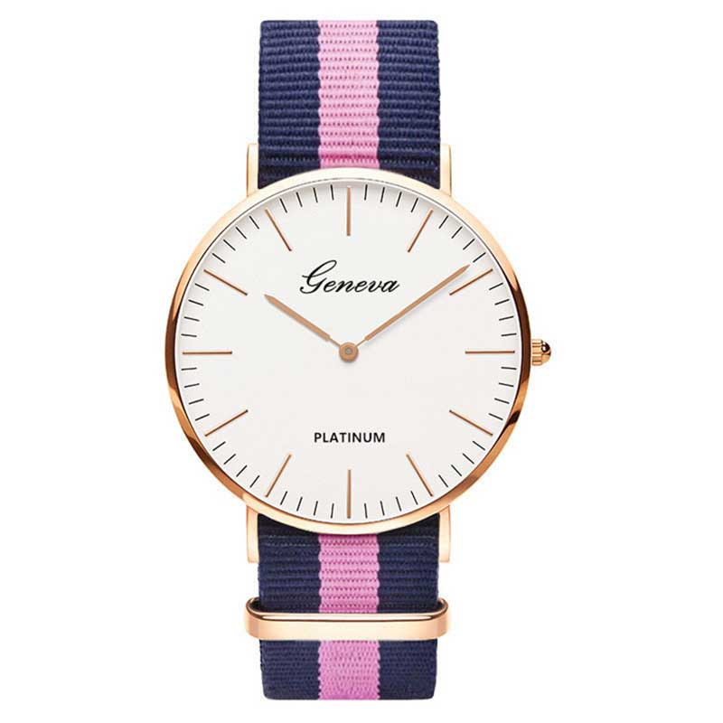 Hot Sale Nylon Strap Style Quartz Women Watch Men Watches Fashion Casual Unisex Watches Lovers Wrist Watch Military Reloj Mujer