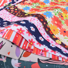 Chainho Floral Soft Felt Fabric,Printed Polyester NonWoven Felt Cloth,For Home Decoration Or Sewing Dolls&Crafts,40cmx45cm/piece(China)