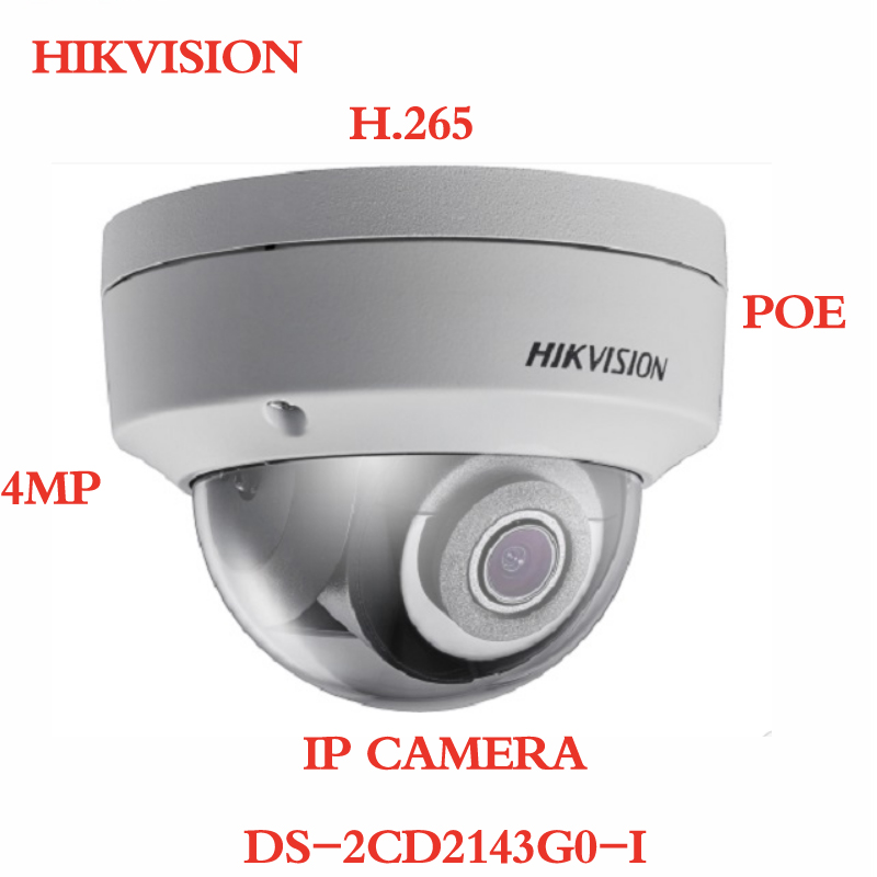 ANXIE Hikvision DS-2CD2143G0-I 4MP Dome Network Camera POE H.265 IR 30m IP67 SD Card Slot Replace IP Camera hikvision ds 2cd3955fwd iws 5mp fisheye camera 360 view ip camera support wifi sd card poe ir replace ds 2cd3942f i
