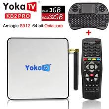 YOKA KB2 PRO Android 6.0 Octa Core 3 GB 32 GB smart TV Caja Amlogic S912 para BT 4.0 Streaming Media Player set top box PK H96 PRO