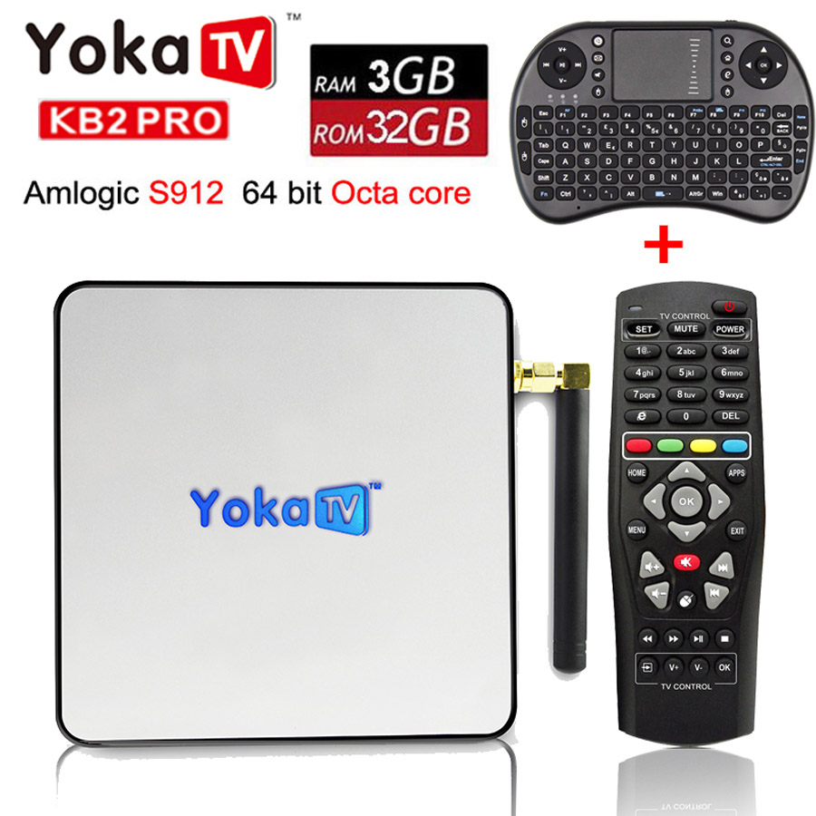 Original YOKA KB2 PRO Android 6.0 Octa Core Smart TV Box Amlogic S912