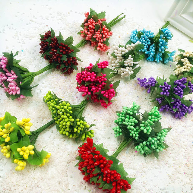 Karangan bunga buatan mini berries rumah tangga taman dada bunga perhiasan DIY  karangan bunga pernikahan cd509c105b