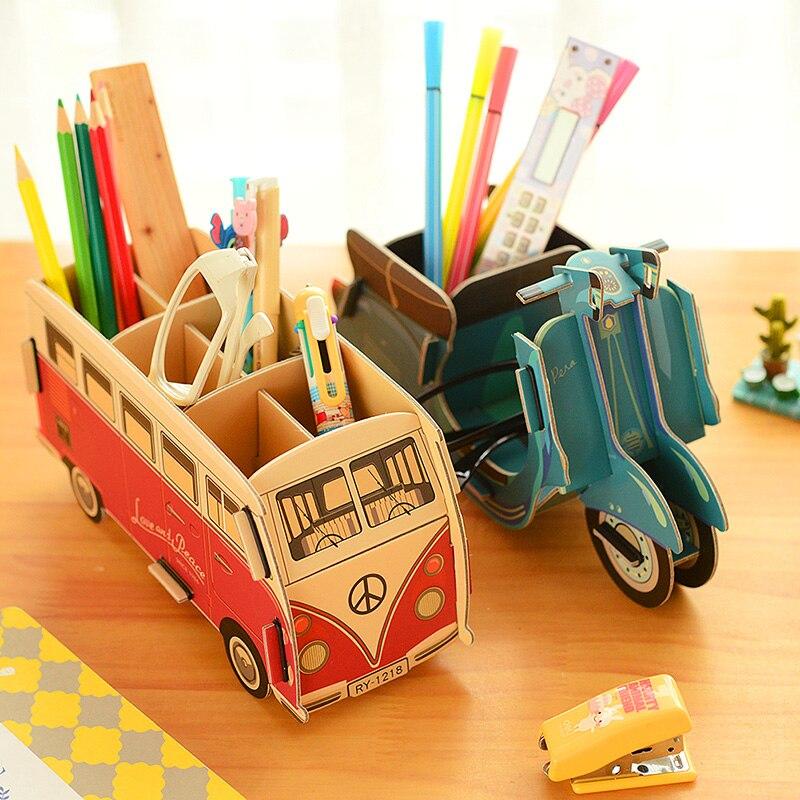 Innovative Classroom Supplies ~ Pc lot cute innovative diy paper pen holder for school