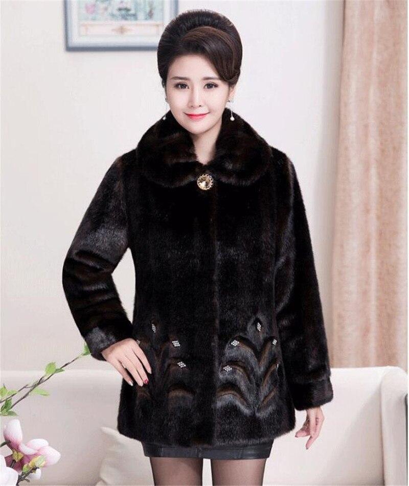 HTB1Auw3c6fguuRjy1zeq6z0KFXap 2020 Winter Women's Fur Coat Faux Mink Fur Jackets Plus size 5XL Middle aged Female Diamonds Thicken Noble Fur Coats OKXGNZ 2138