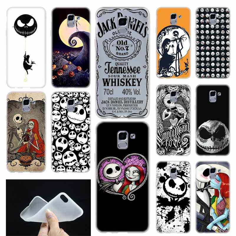 case Soft Cover TPU Coque For Samsung Galaxy J6 J8 J3 J5 J7 J4 Plus 2018 2016 2017 EU Prime Pro Ace j610 jack skellington