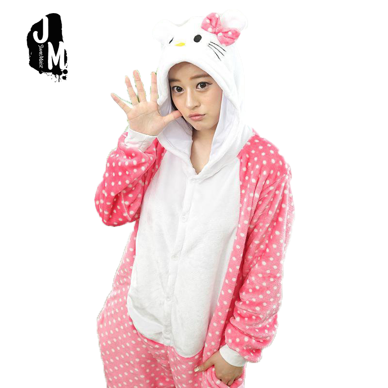 ᗚUnisex ropa de dormir party Cosplay pijamas animal coral Kitty CAT ...