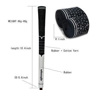 Image 4 - 골프 아이언 그립 표준 미끄럼 방지 골프 클럽 그립 화이트/블랙 10 개/몫 무료 배송