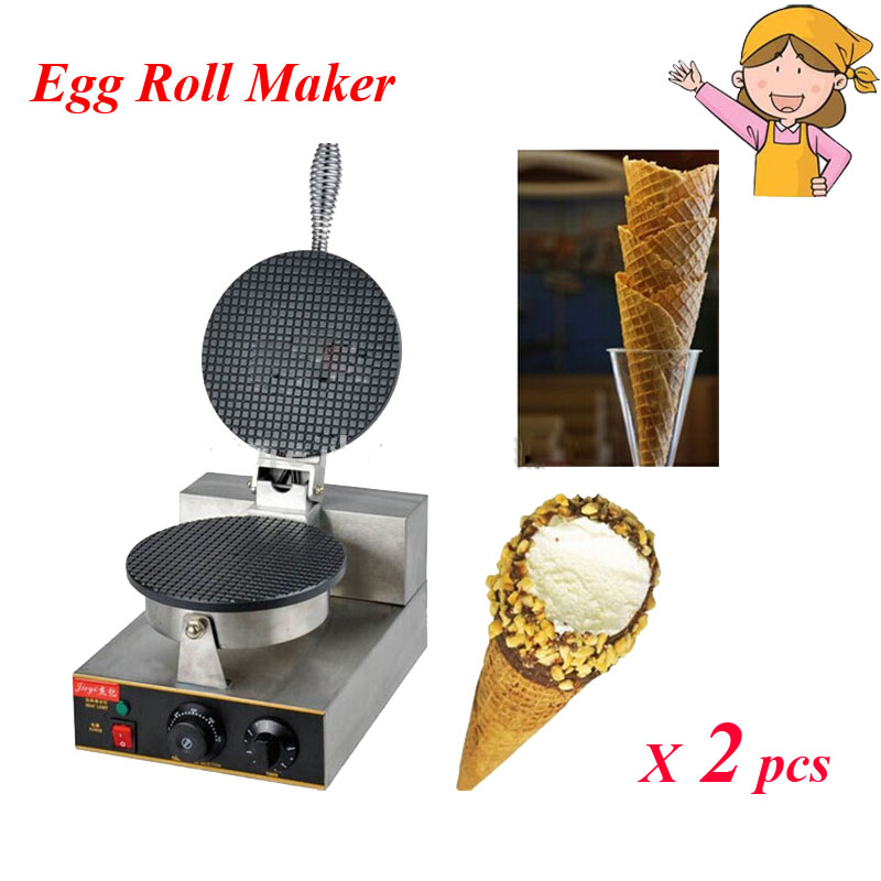 ФОТО 2pcs/lot Electric Ice Cream Cone Maker, Palacinka Maker/ Cone Baking / Crepe Waffle Maker Equipment FY-1A