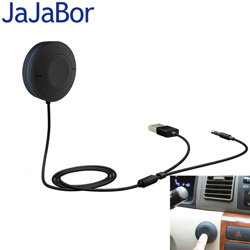 JaJaBor Bluetooth Handsfree Car Kit Bluetooth 4.1+EDR Audio Receiver AUX Audio Music Receiver Car MP3 Player