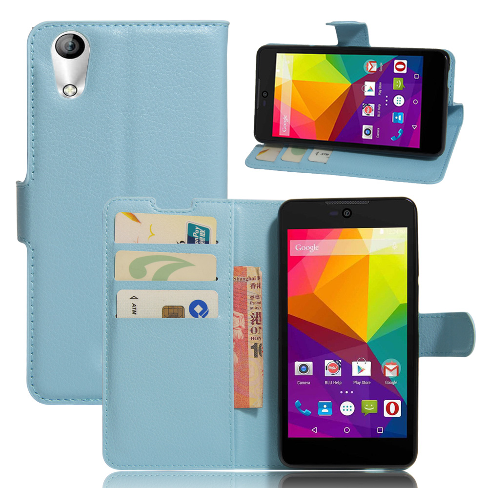 HUDOSSEN For <font><b>BLU</b></font> Studio C 5+5 Wallet Book Style PU Leather <font><b>Phone</b></font> Cover Credit Card Holder Protective Case <font><b>Cell</b></font> <font><b>Phone</b></font> <font><b>Accessories</b></font>