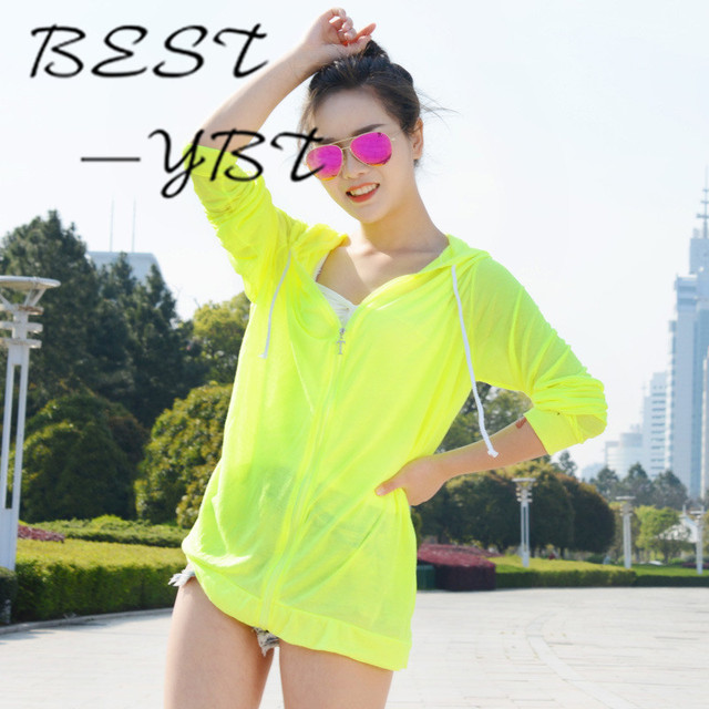 45ace135ee97 Ms. Long sleeved Hooded Jacket Breathable Sun Protection Clothing ...
