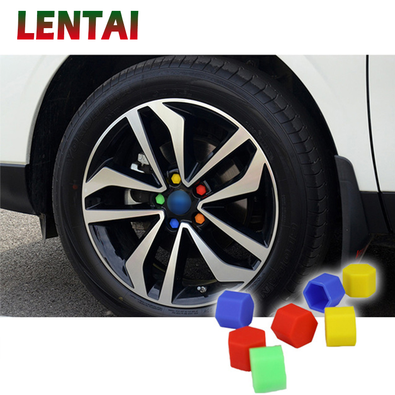 OVERE 20Pcs Car Silicone Wheel Hub Screw Cover Cap For Fiat <font><b>VW</b></font> Polo Golf MK4 4 MK7 Touran <font><b>T5</b></font> Bora Skoda Rapid Fabia Yeti Superb image