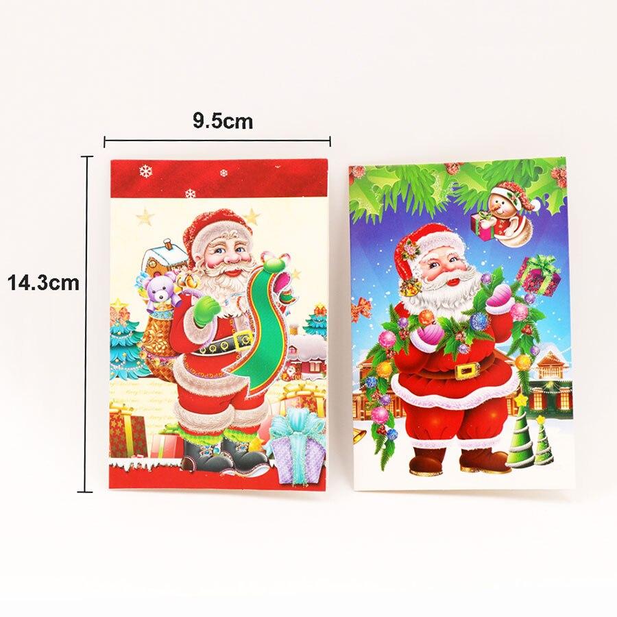 18Pcs/Pack Cartoon Santa Claus Christmas Greeting Card Navidad ...